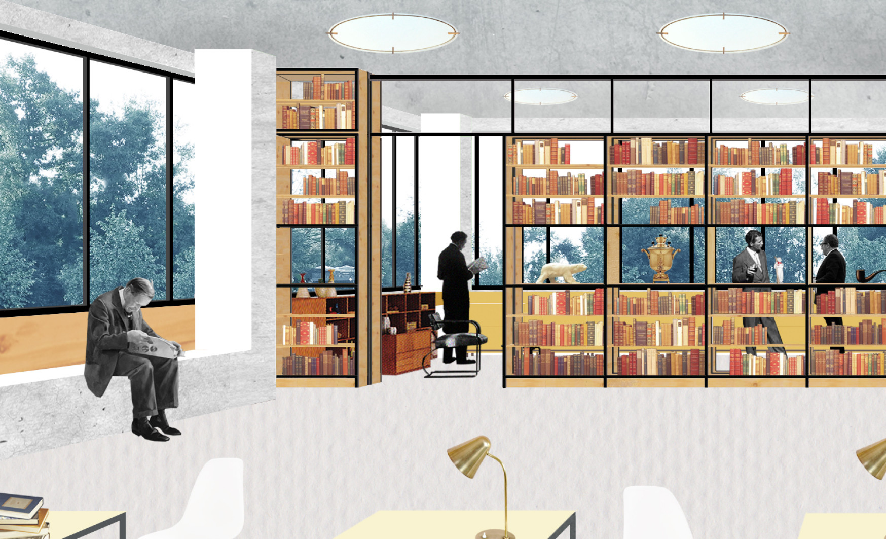 Great Reimagining 448 Local Libraries In Moscow, One Space At A Time,Interior  Collage