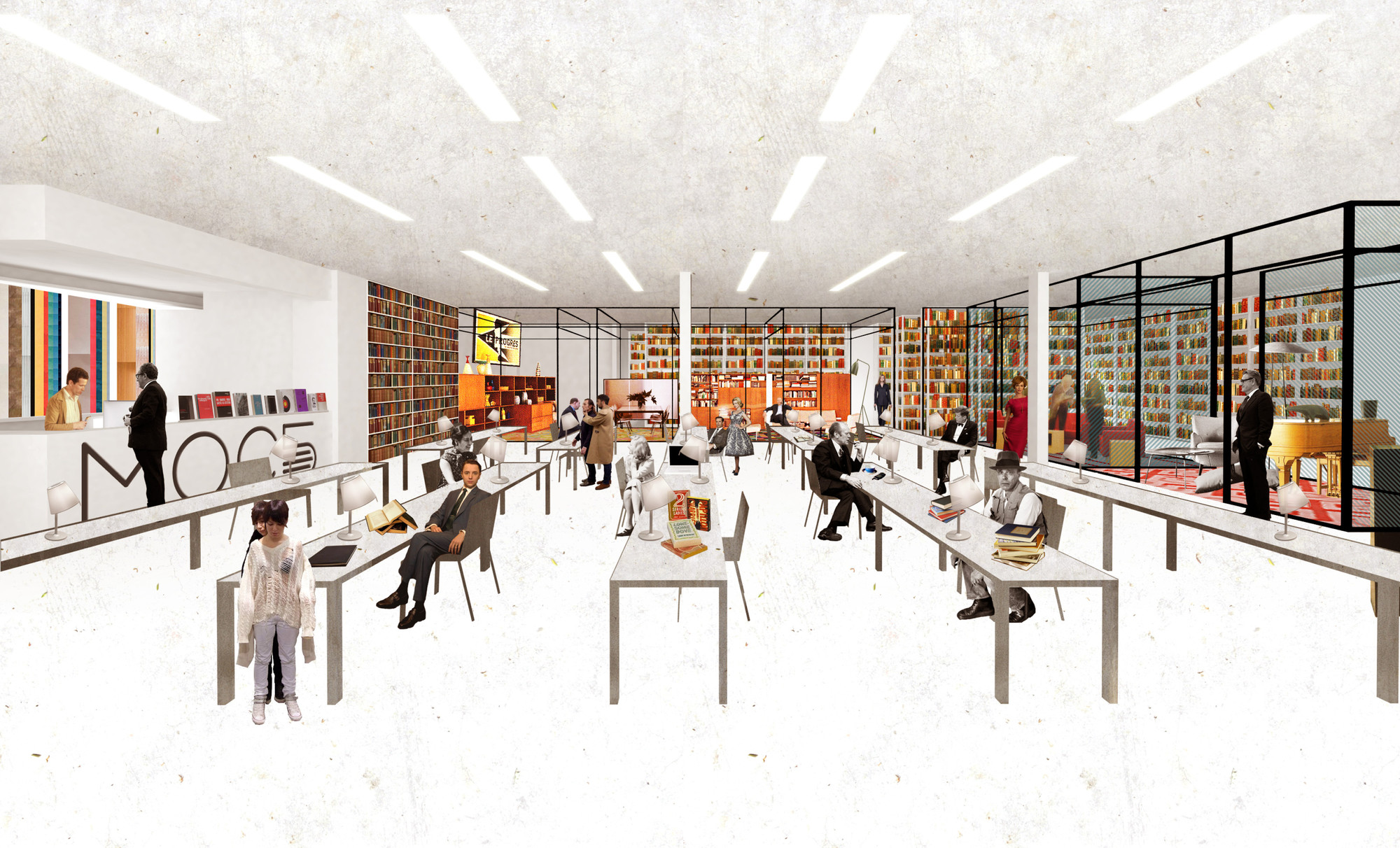 Reimagining 448 Local Libraries In Moscow, One Space At A Time,Interior  Collage