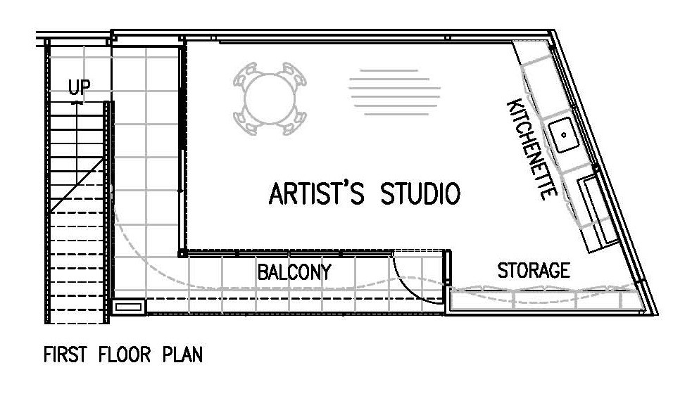 542de18fc07a80c9ea000444 Artist S Studio Chan Architecture First Floor Plan on Small Coffee Shop Floor Plans