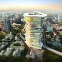 Primer Lugar en concurso de ideas SuperSkyScrapers Cortesia de SURE Architecture Company