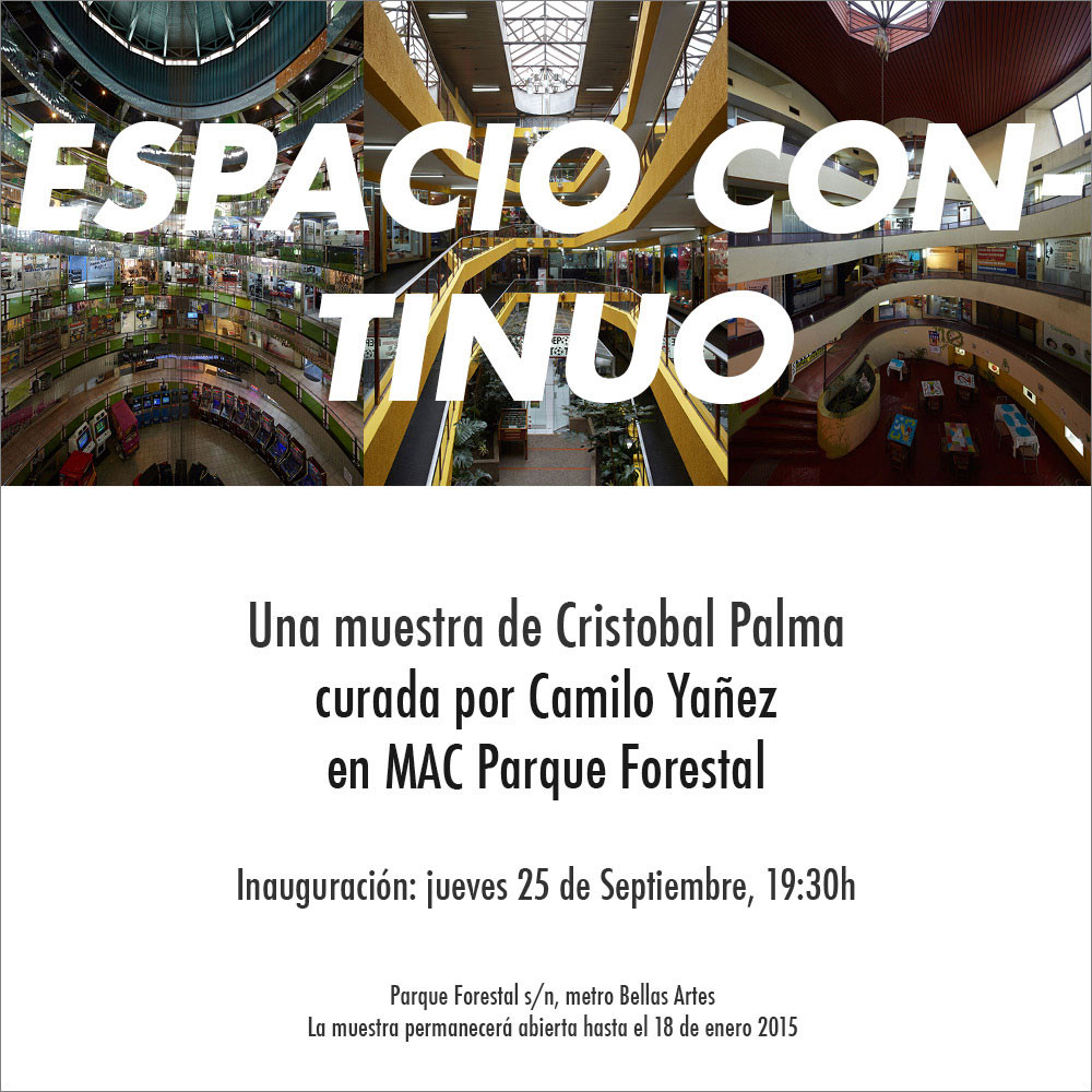 """Exposición """"Espacio continuo"""" / Santiago, Chile"""