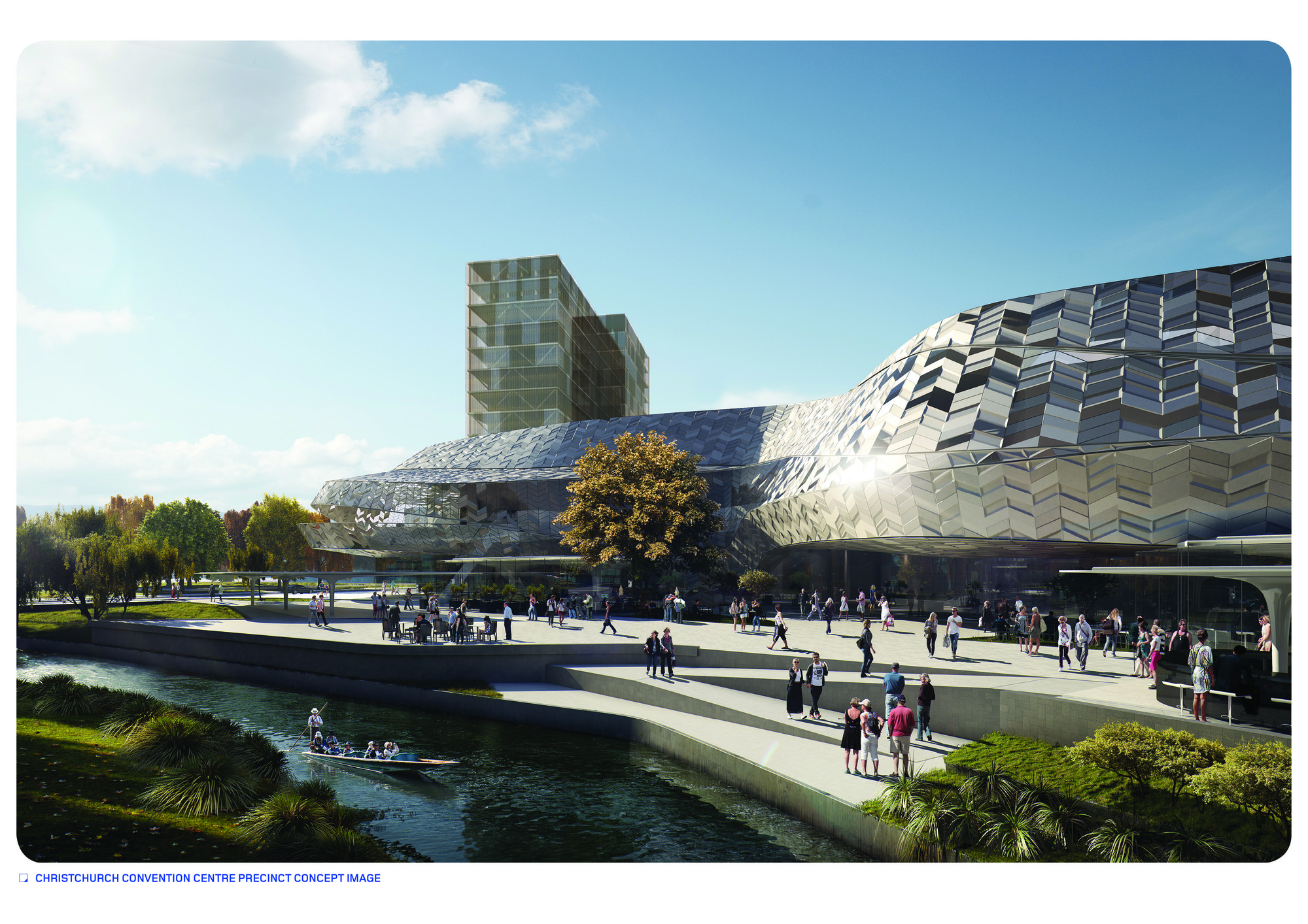 Woods bagot reveals plans for christchurch convention for Christchurch architecture firms