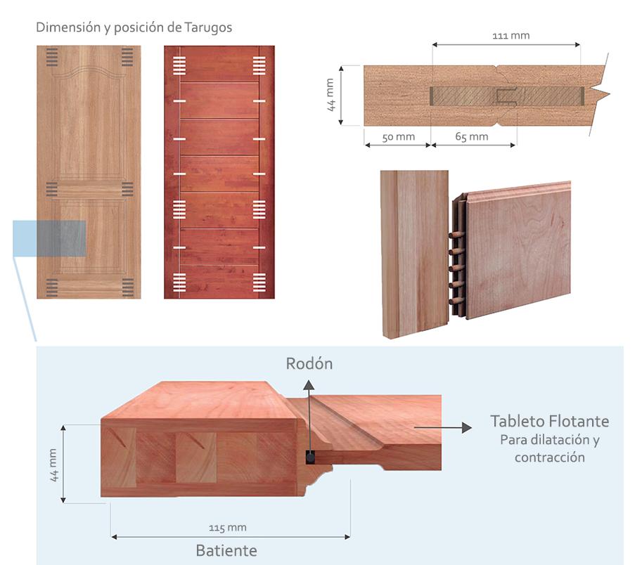 Materiales puertas de madera maciza plataforma arquitectura for Como hacer una puerta de madera para exterior