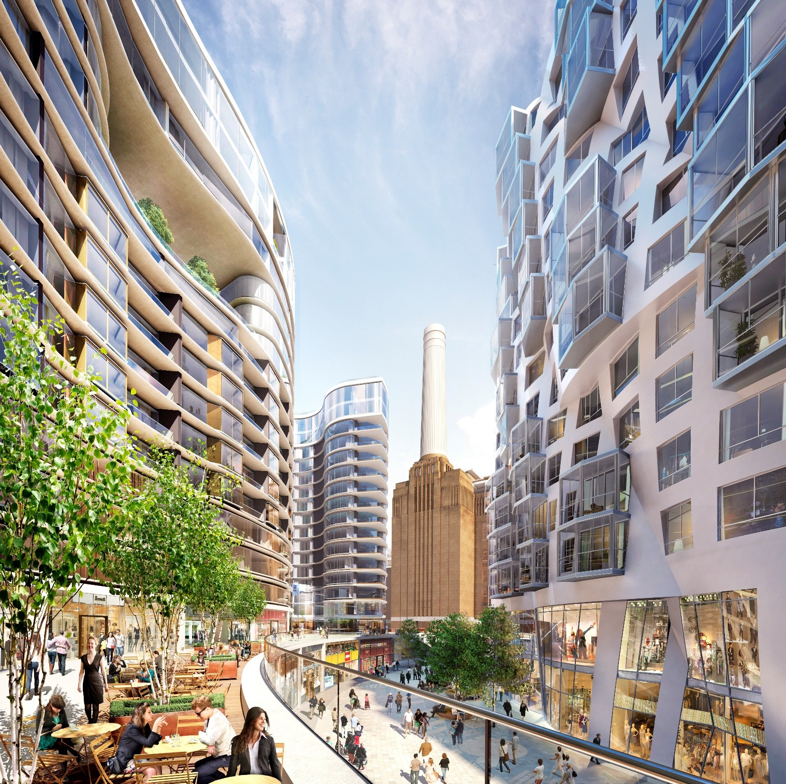 New Images Released Of Foster And Gehry S Battersea Station Designs