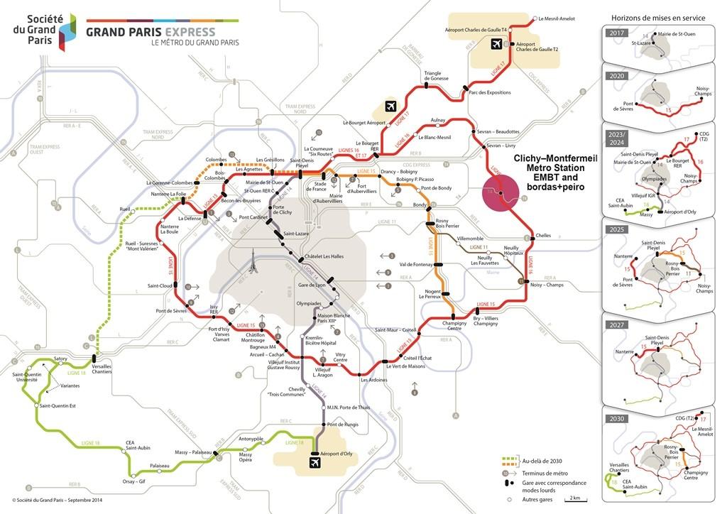 Miralles Tagliabue EMBT gana concurso para diseñar estación de Metro en París, Proyecto Gran Paris Express. Image Cortesia de EMBT