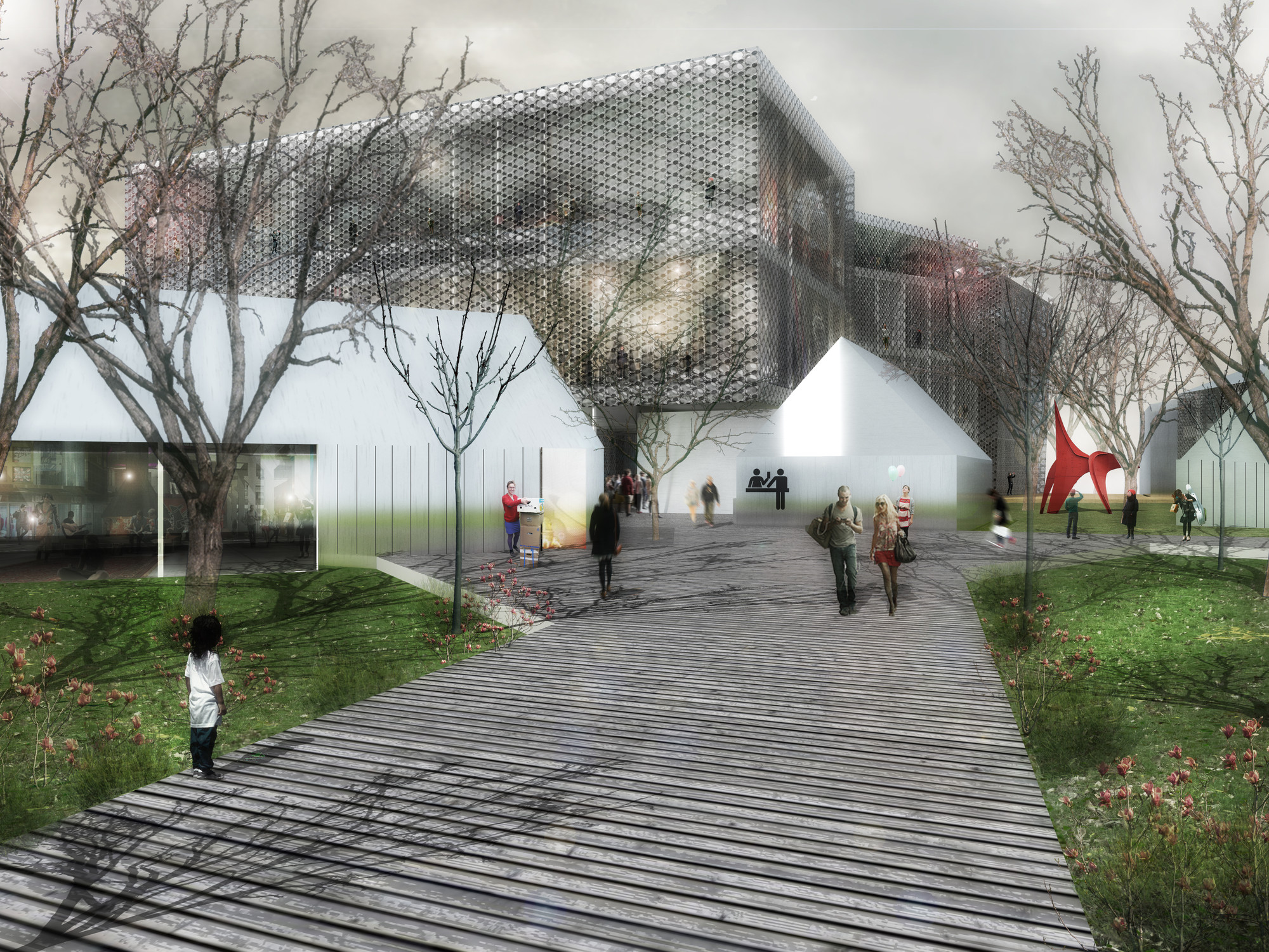 "Competition Entry: SCStudio Transforms Budapest Park into ""Urban Archipelago"", © SCStudio"