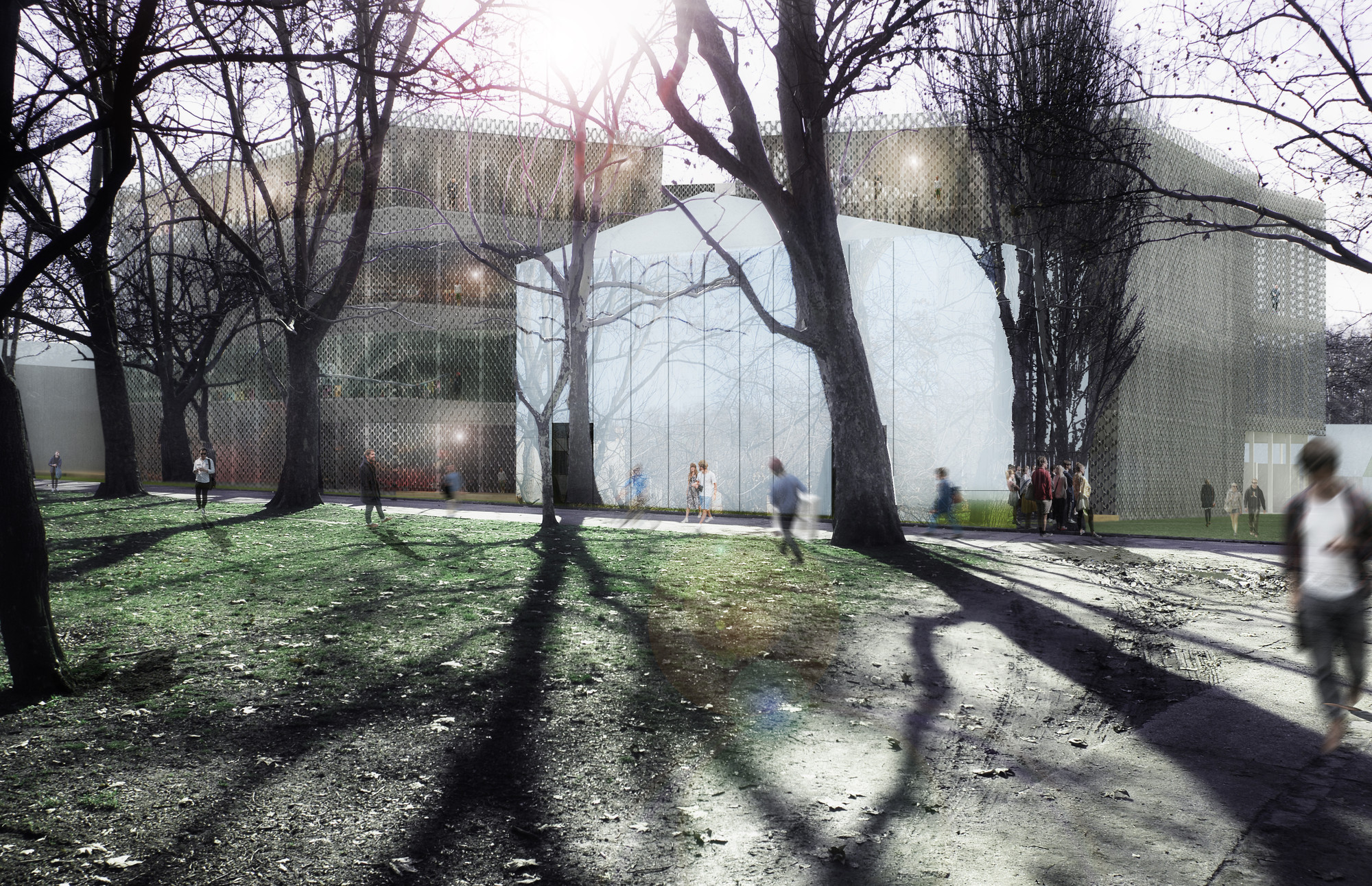 "Competition Entry: SCStudio Transforms Budapest Park into ""Urban Archipelago"""