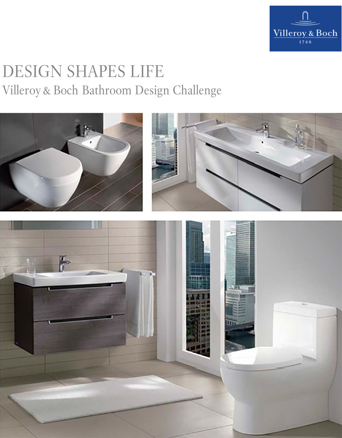 design shapes life villeroy boch launches bathroom design challenge - Bathroom Designs Villeroy And Boch
