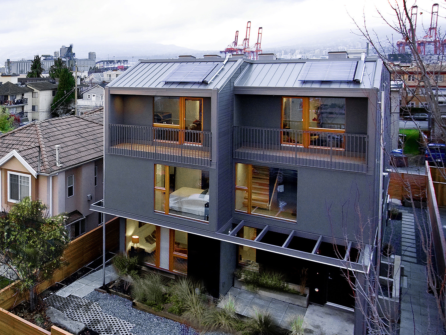 Ecological Densification Four  Townhouses / SHAPE Architecture, Courtesy of SHAPE Architecture