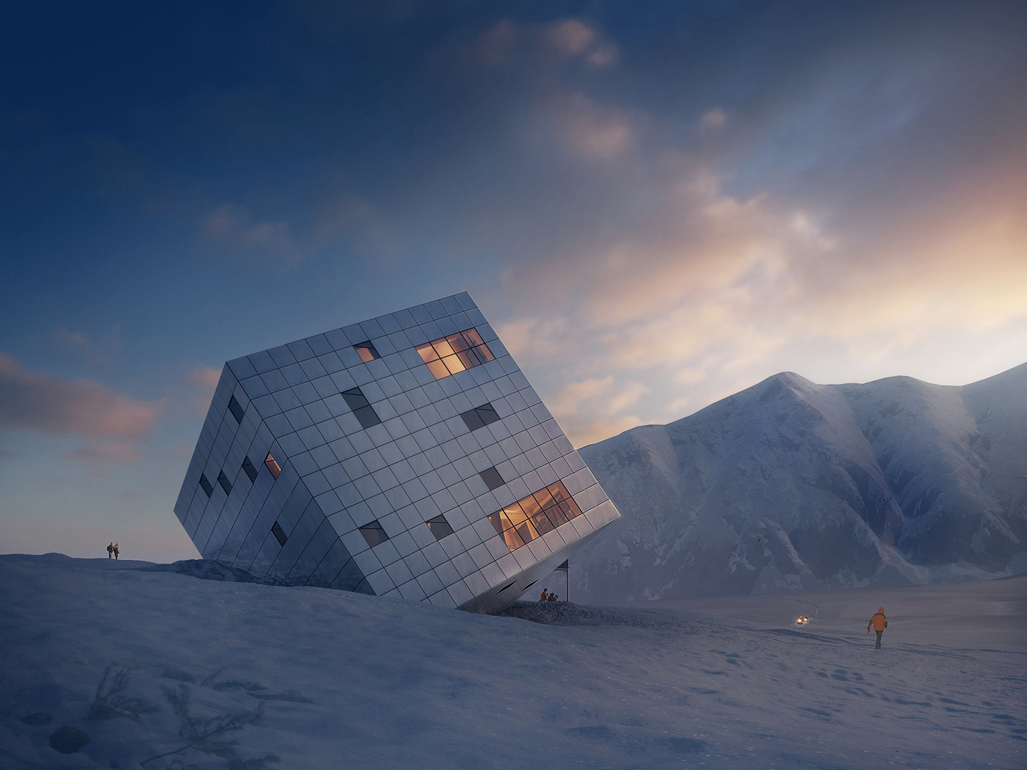 Competition Entry: Atelier 8000 Designs Cuboidal Mountain Hut for Slovakia's High Tatras, © Jan Cyrany, Courtesy of Atelier 8000