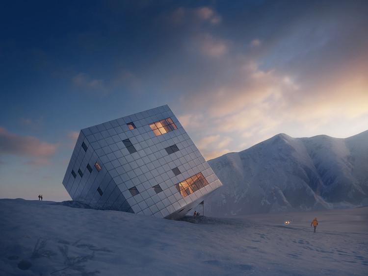 A8000 projeta casa de montanha em forma de cubo, © Jan Cyrany, Courtesy of A8000