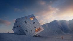 Atelier 8000 projeta casa de montanha em forma de cubo