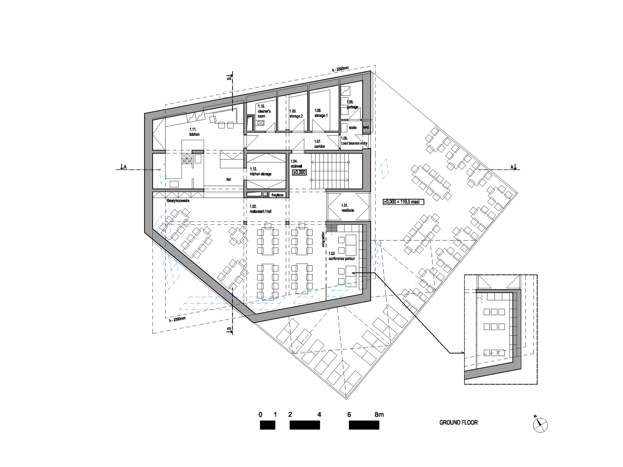 Ekasits Case Study Villa Savoye besides 542616e4c07a80548f0001c3 The Family Playground House Design Floor Plan likewise 51dedd14e8e44e6873000002 Ad Classics The Dymaxion House Buckminster Fuller Image together with Casa Bodega De Verano Judith Benzer Architektur besides Big Great Room House Plans. on modern house floor plans