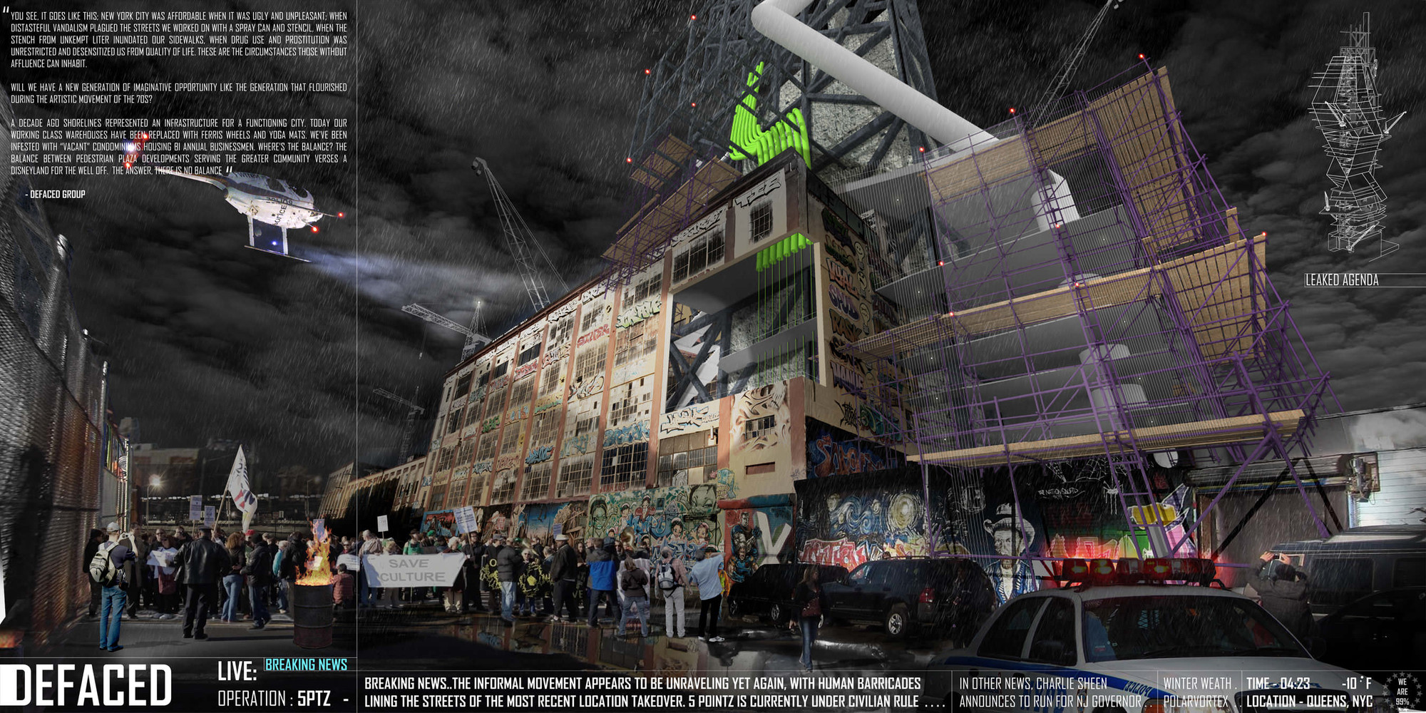 DEFACED Makes a Stand Against Controversial Demolition of NYC Graffiti Mecca, © DEFACED