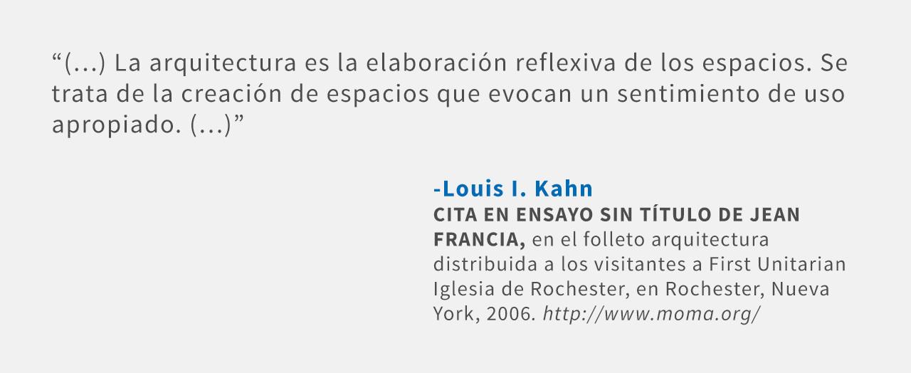 Frases: Louis I. Kahn