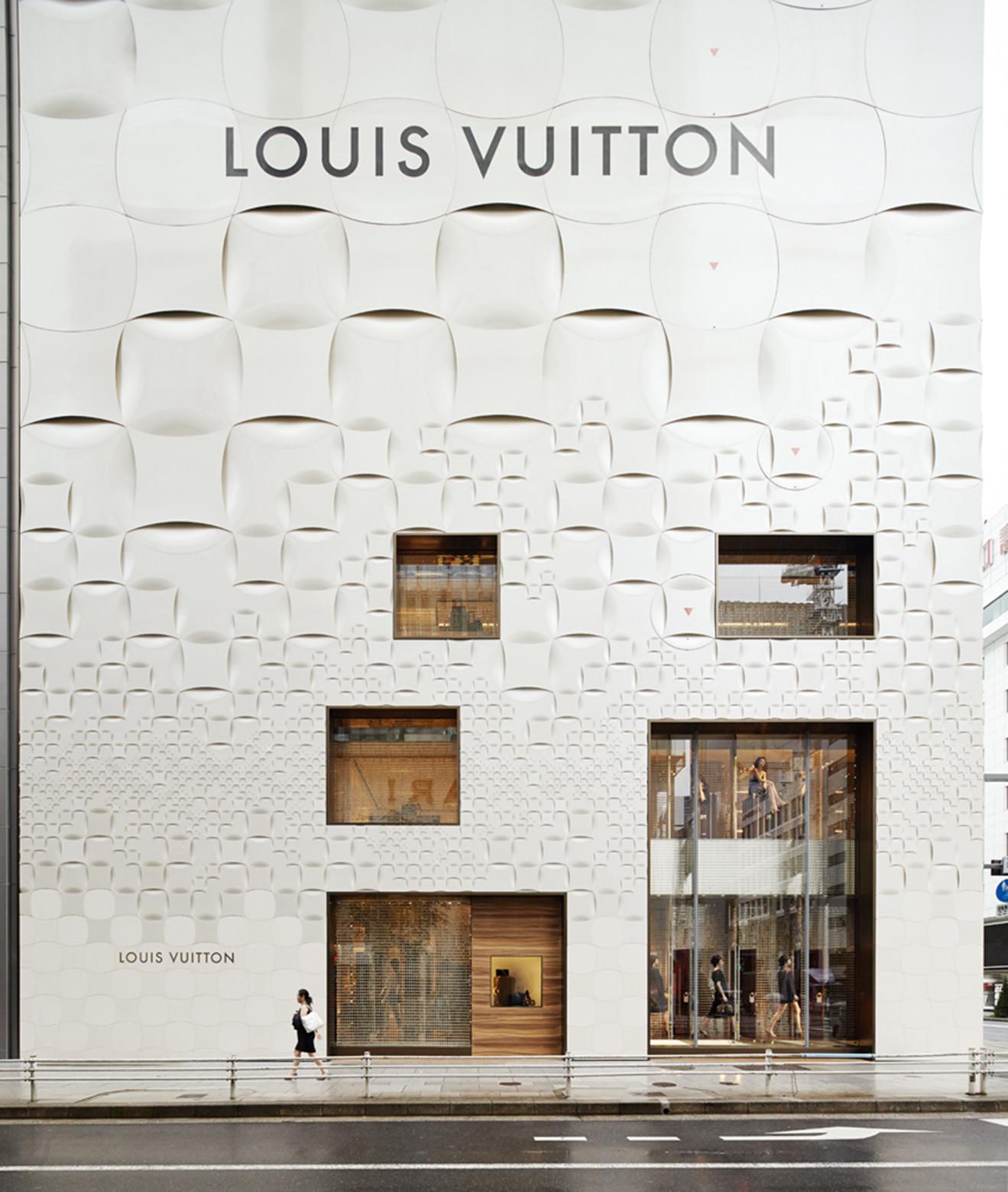 Louis vuitton matsuya ginza facade renewal jun aoki associates