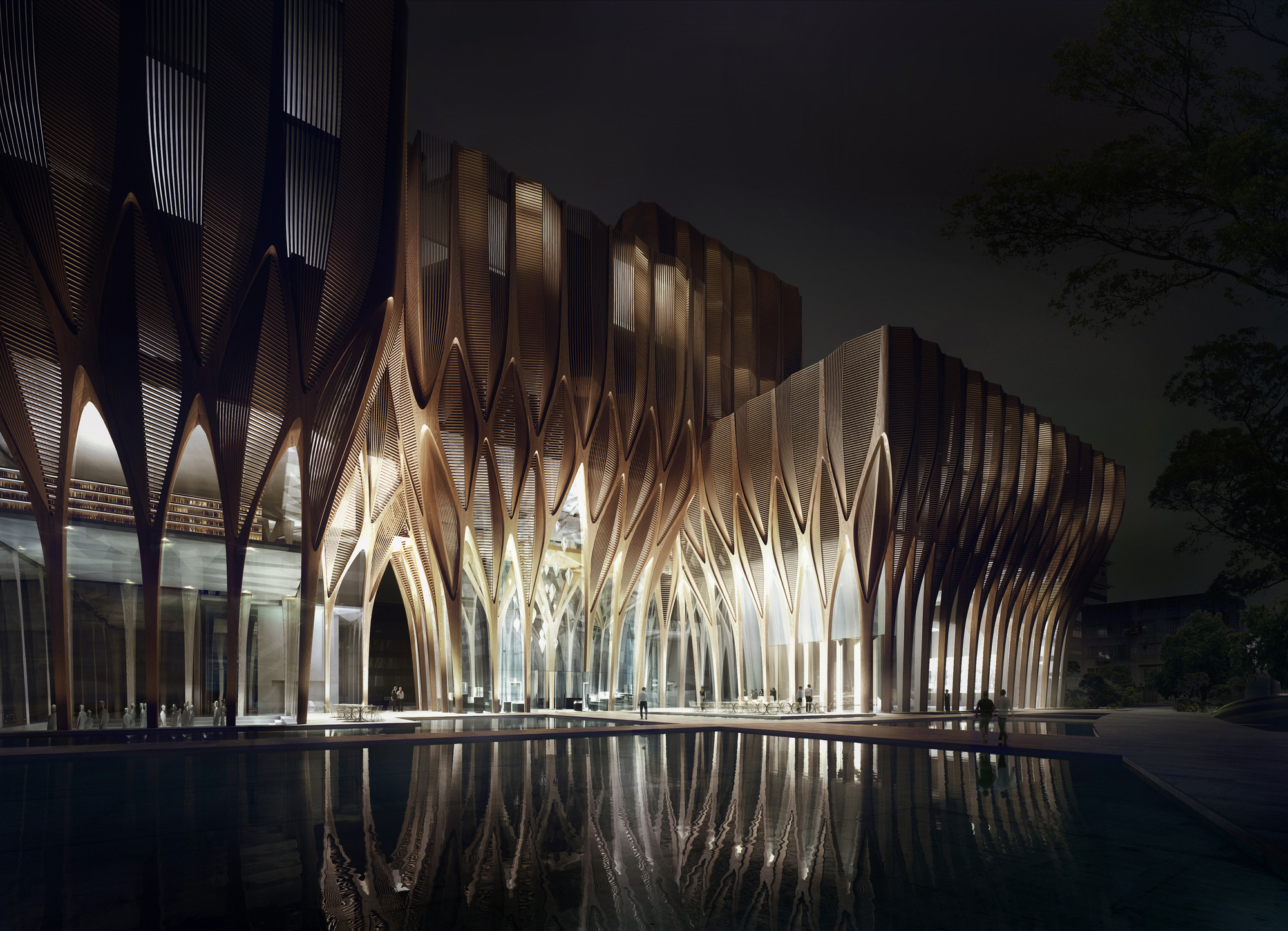 Sleuk rith institute zaha hadid architects archdaily for Architecture si