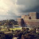South Facade and Memorial Park. Image Courtesy of ZHA