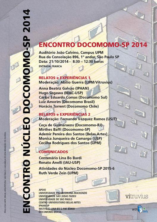 Encontro do Núcleo Docomomo-SP 2014, Cortesia de Núcleo Docomomo-SP