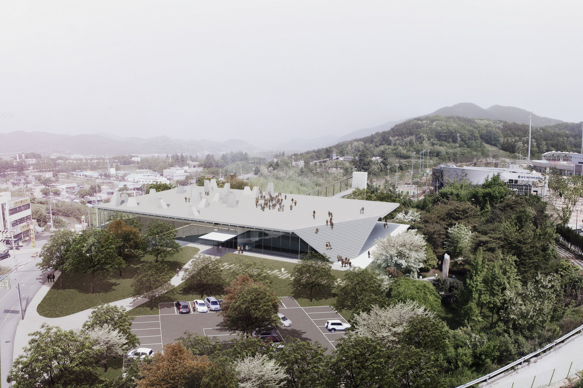 Competition Entry: Pedro Livni + Fernando De Rossa's Proposal for Dalseong Citizen's Gymnasium, © Pedro Livni + Fernando De Rossa