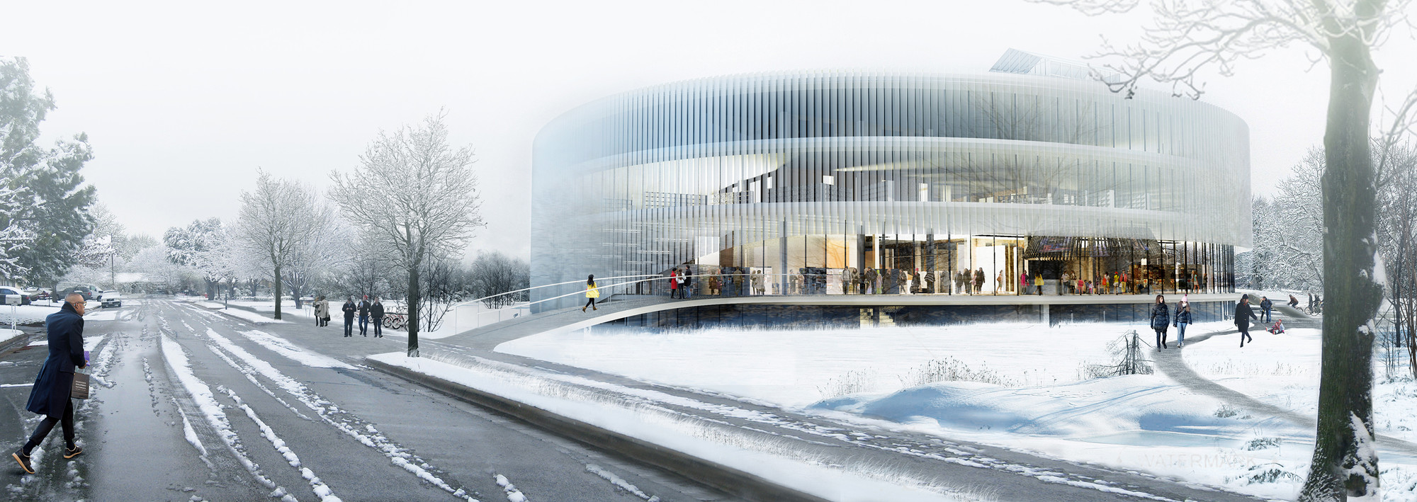 Competition Entry: OYO's Kortrijk Campus Scheme Awarded Second Prize, © OYO – Open Y Office
