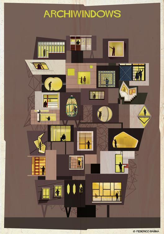 """ARCHIWINDOW: espiando pelos """"olhos da arquitetura"""", © Federico Babina"""