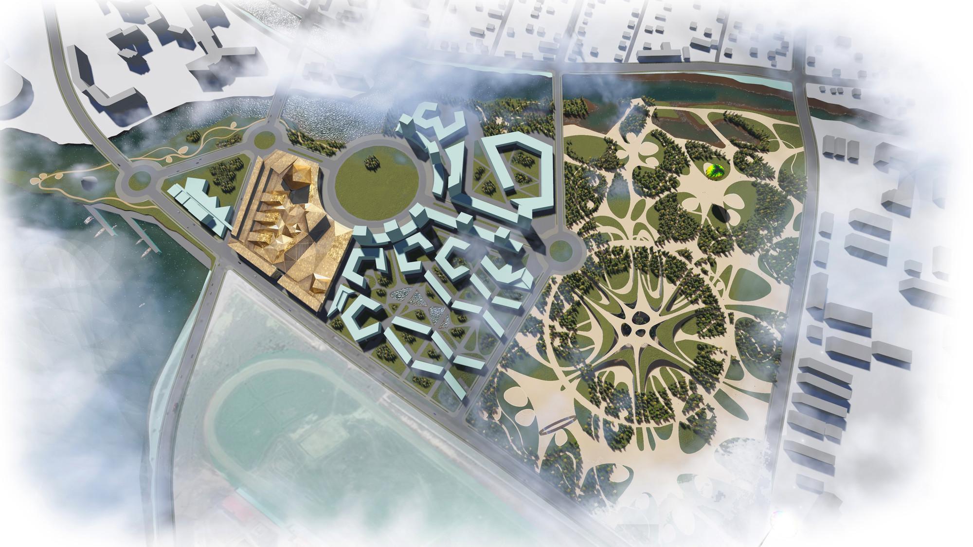 Equipo liderado por Rubio Arquitectura y Francisco Mangado recibe Best Landscaping Award en Rusia, Vista general. Image Cortesia de Rubio Arquitectura