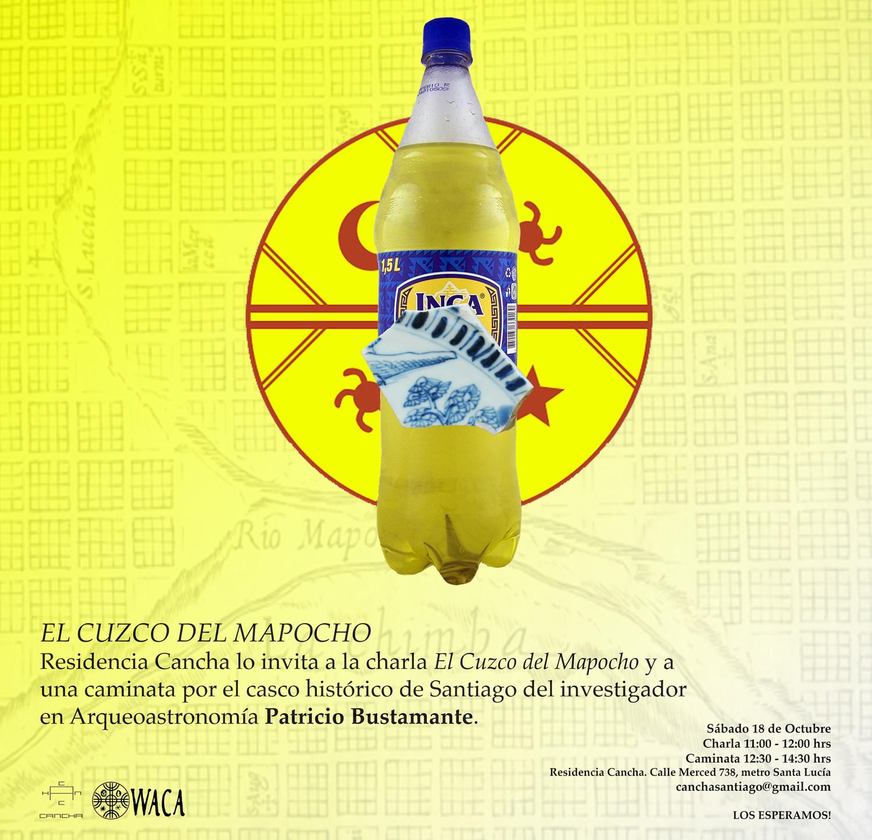 """Charla y caminata """"El Cuzco del Mapocho"""" / Santiago, Cortesia de CANCHA + WACA"""