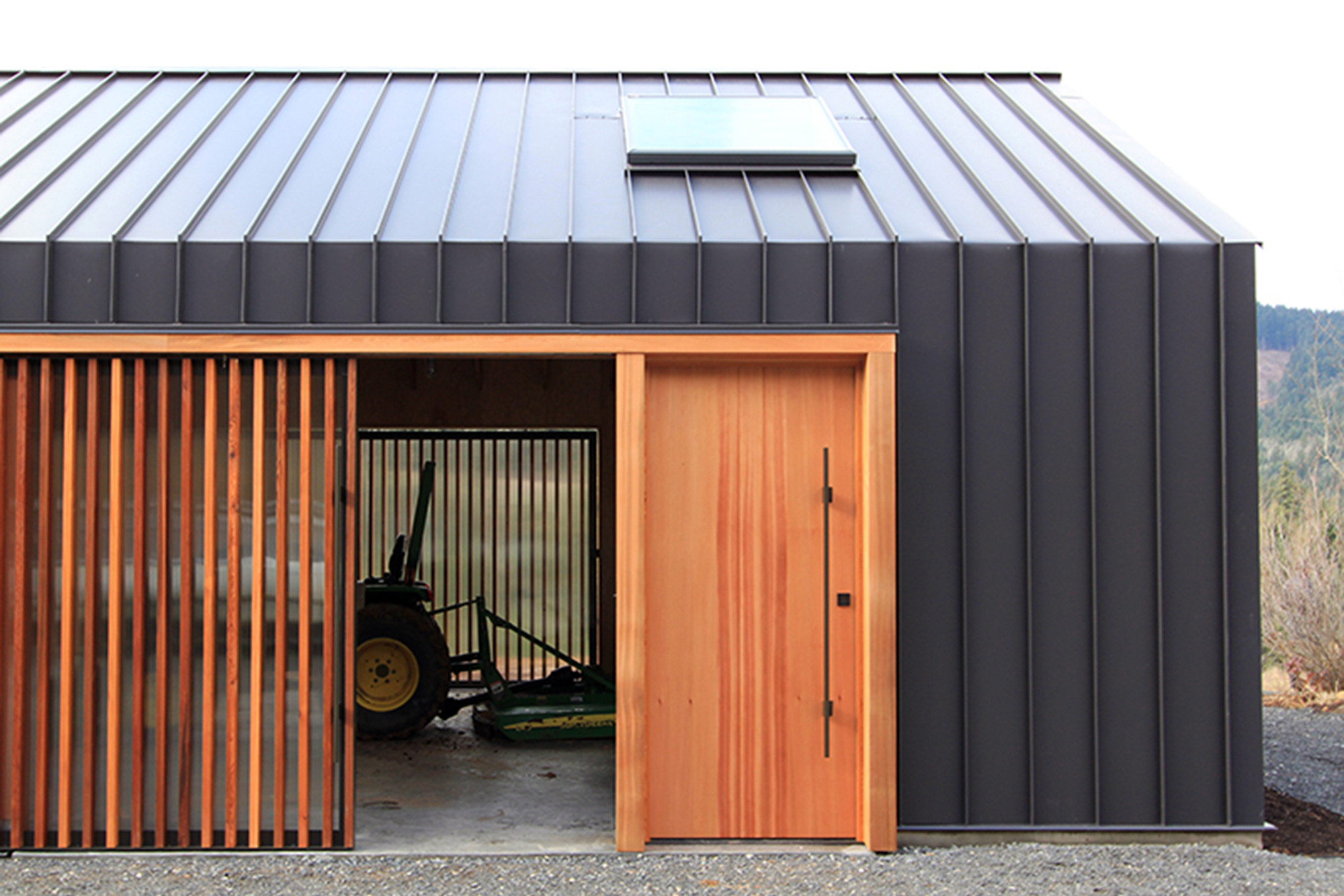 Gallery of elk valley tractor shed fieldwork design for Building a tractor barn