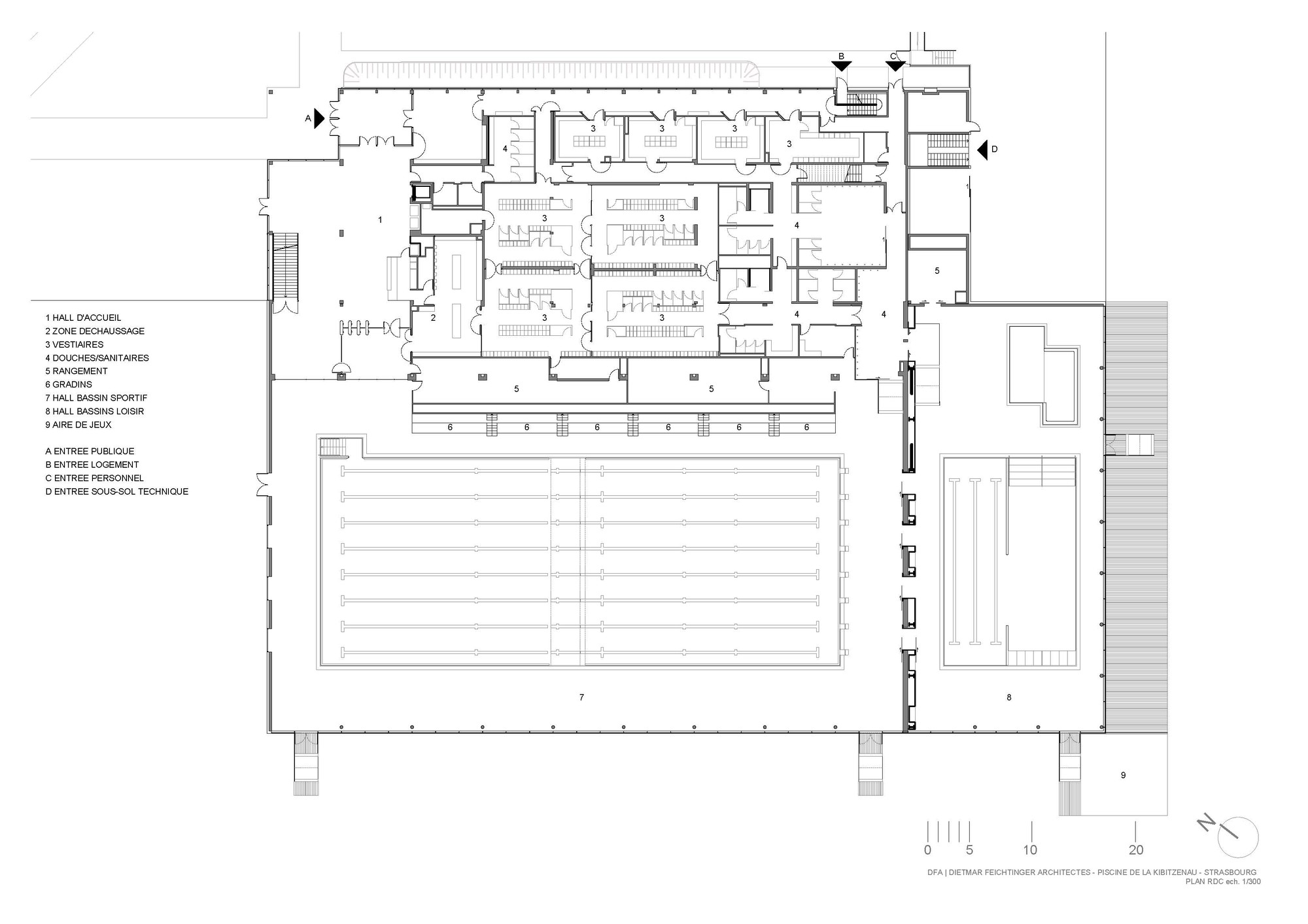 Gallery of swimming pool kibitzenau dietmar feichtinger for Swimming pool floor plan