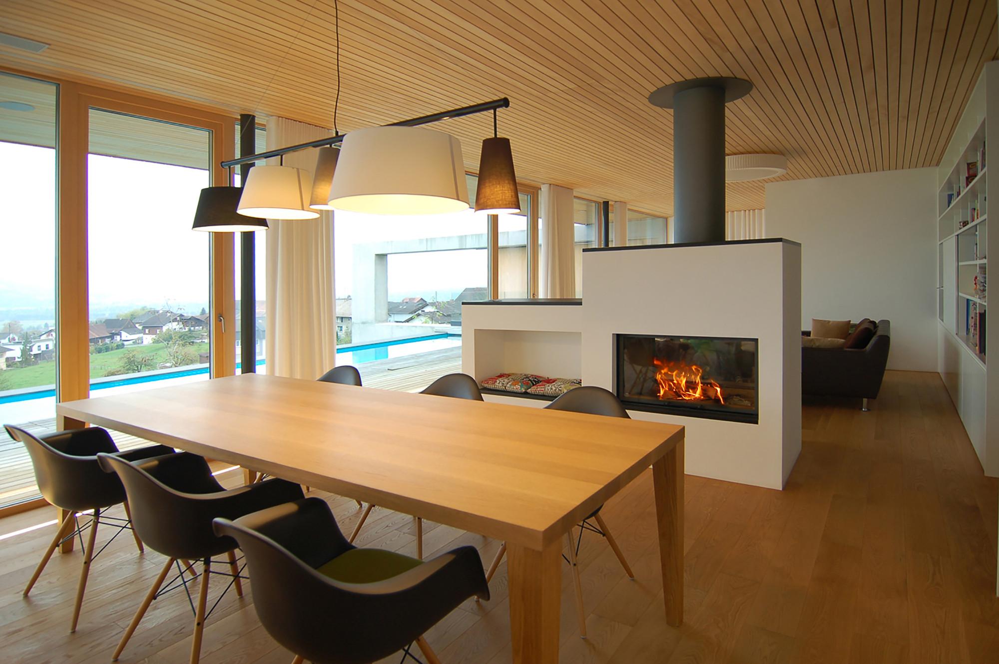 Gallery of house liechtenstein k m architektur 9 - Table a manger transparente ...