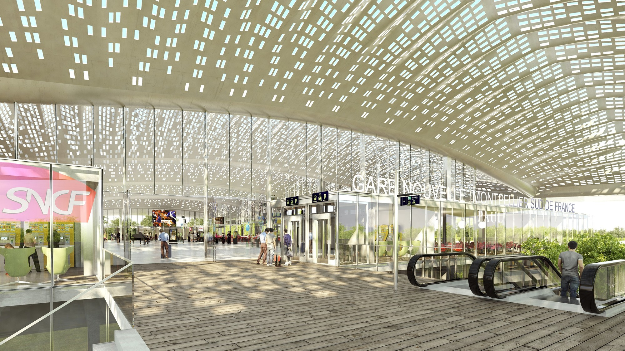 Marc mimram reveals design for new tgv station in for Montpellier architecture