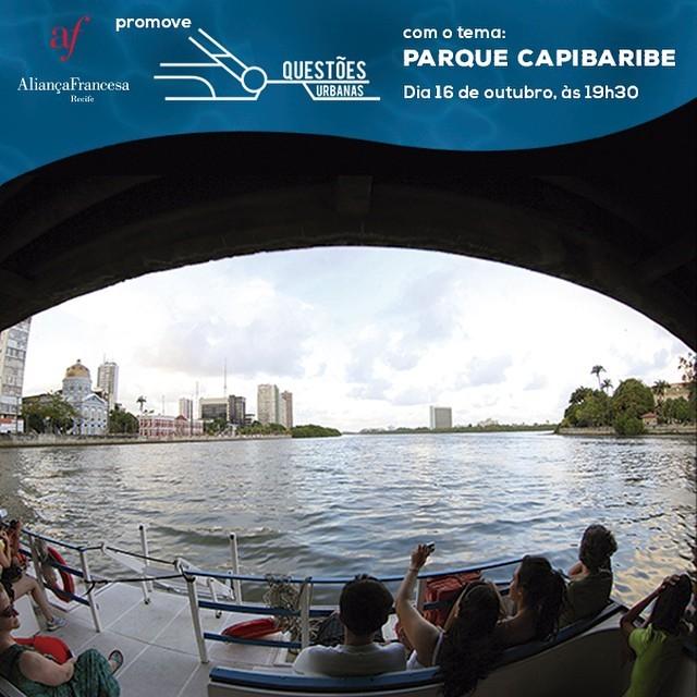 """Debate """"Questões Urbanas: Parque Capibaribe"""" na Aliança Francesa Recife, Cortesia de Aliança Francesa Recife"""