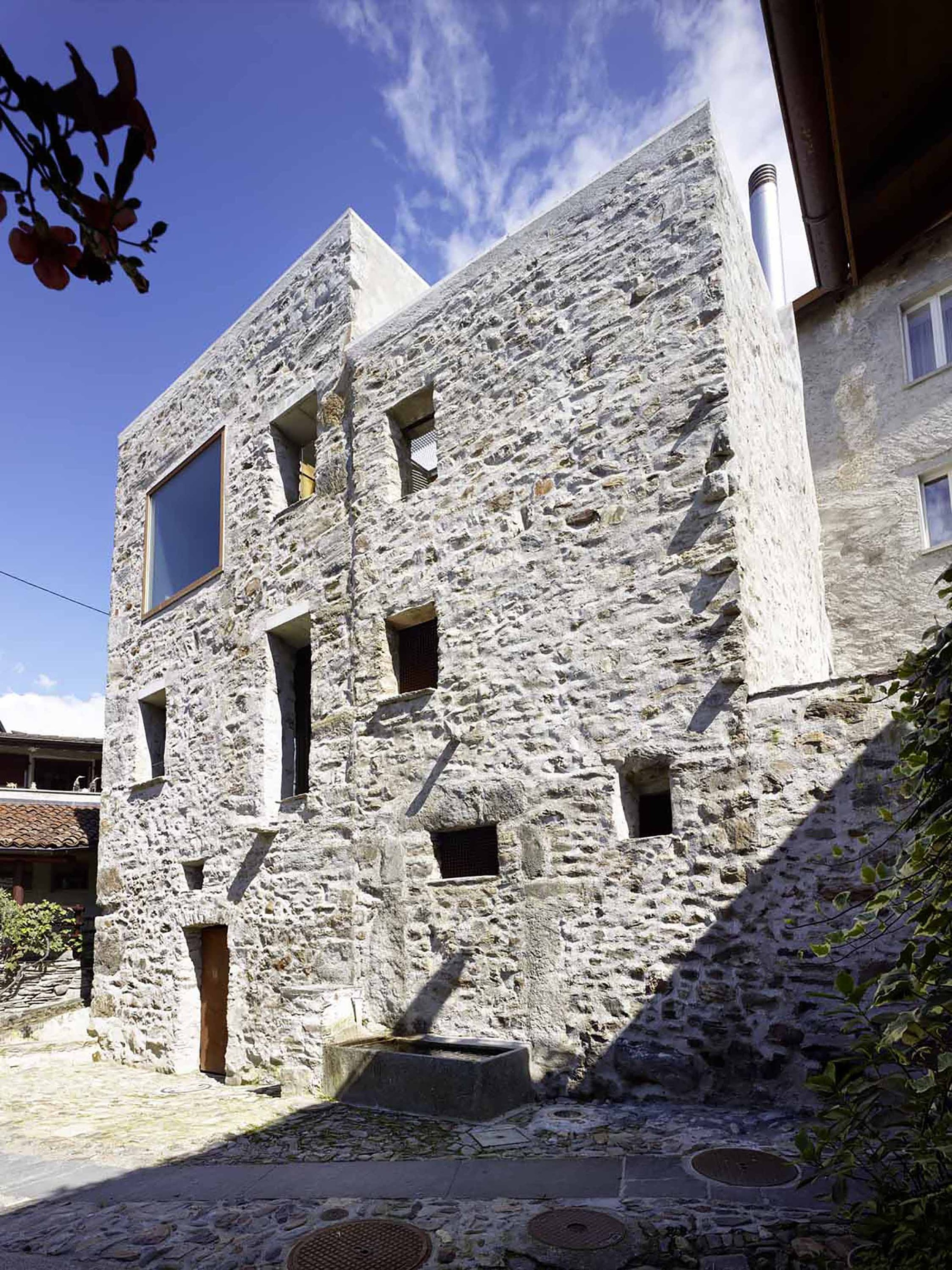 Gallery of stone house transformation in scaiano wespi for Modern stone houses architecture
