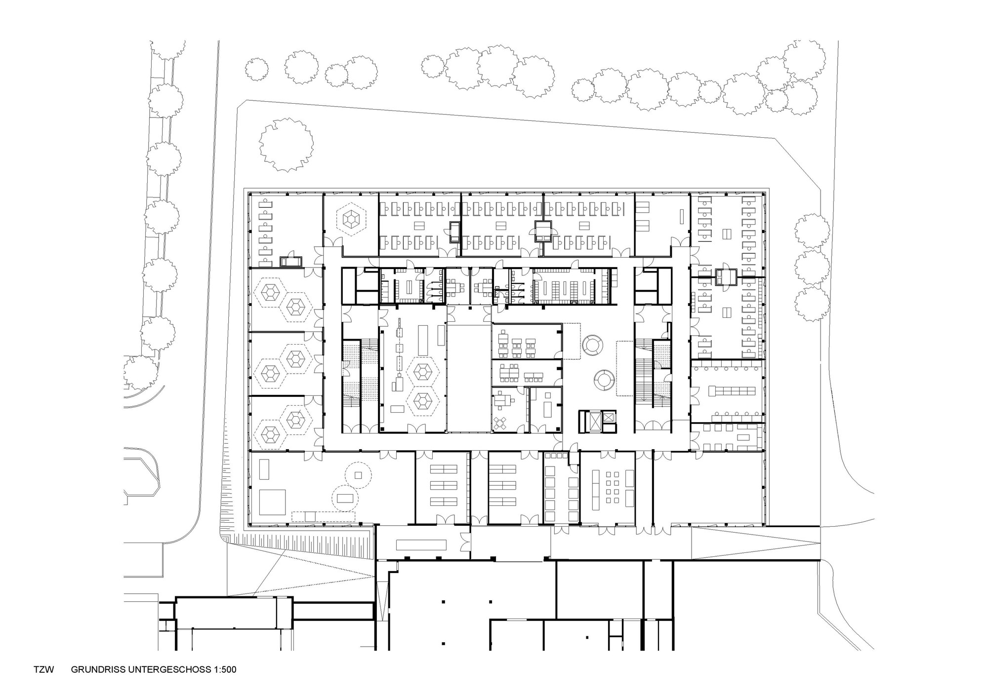 Gallery of center for technology and design in st plten center for technology and design in st plten alleswirdgut architektur 16 23 floor plan jameslax Image collections