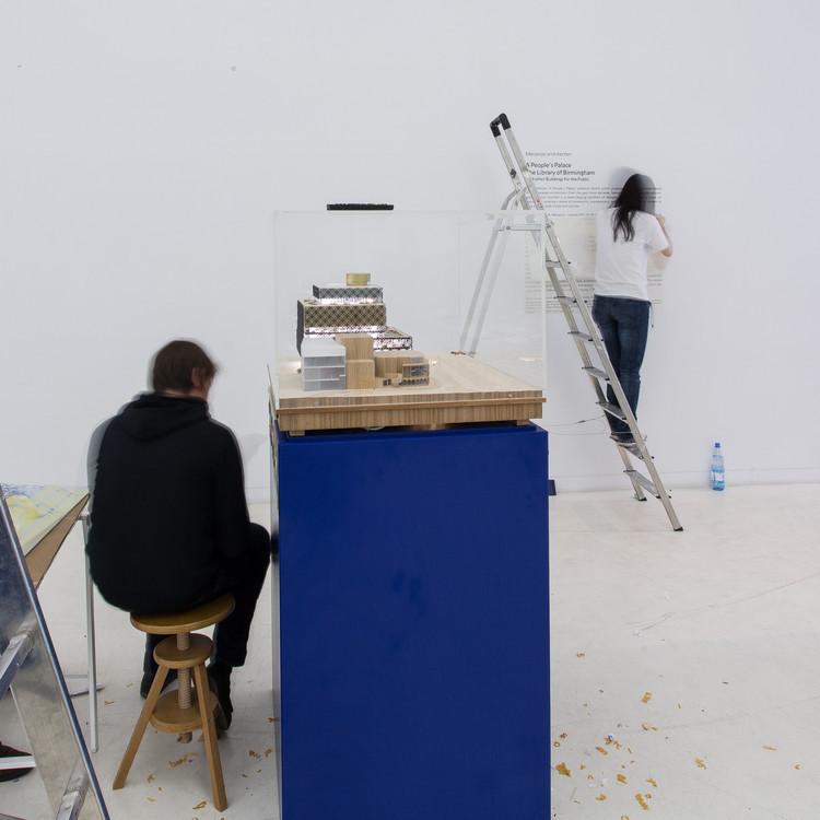'People's Palaces': Behind The Scenes at Mecanoo's Upcoming Exhibition in Berlin, Exhibition preparations: Library of Birmingham. Image Courtesy of  mecanoo