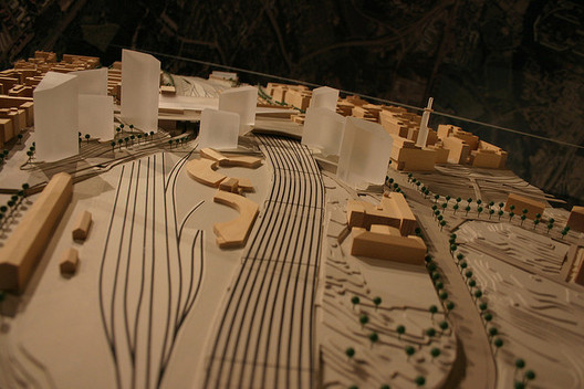 The Pasila district has been marked for development for some time. Above, a model of the area masterplan from 2006. Image © Flickr CC User Darren Webb