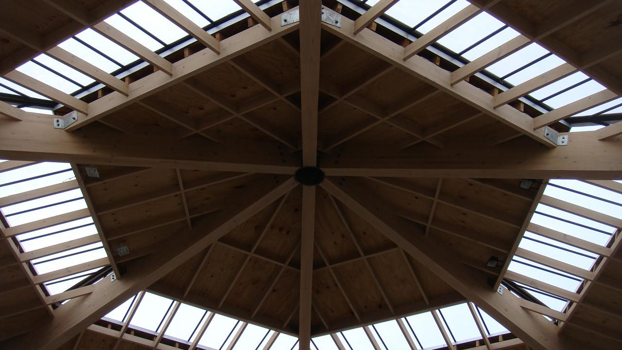 Galer a de permacultura y geometr as sagradas un 39 centro for Modelos de techos para galerias