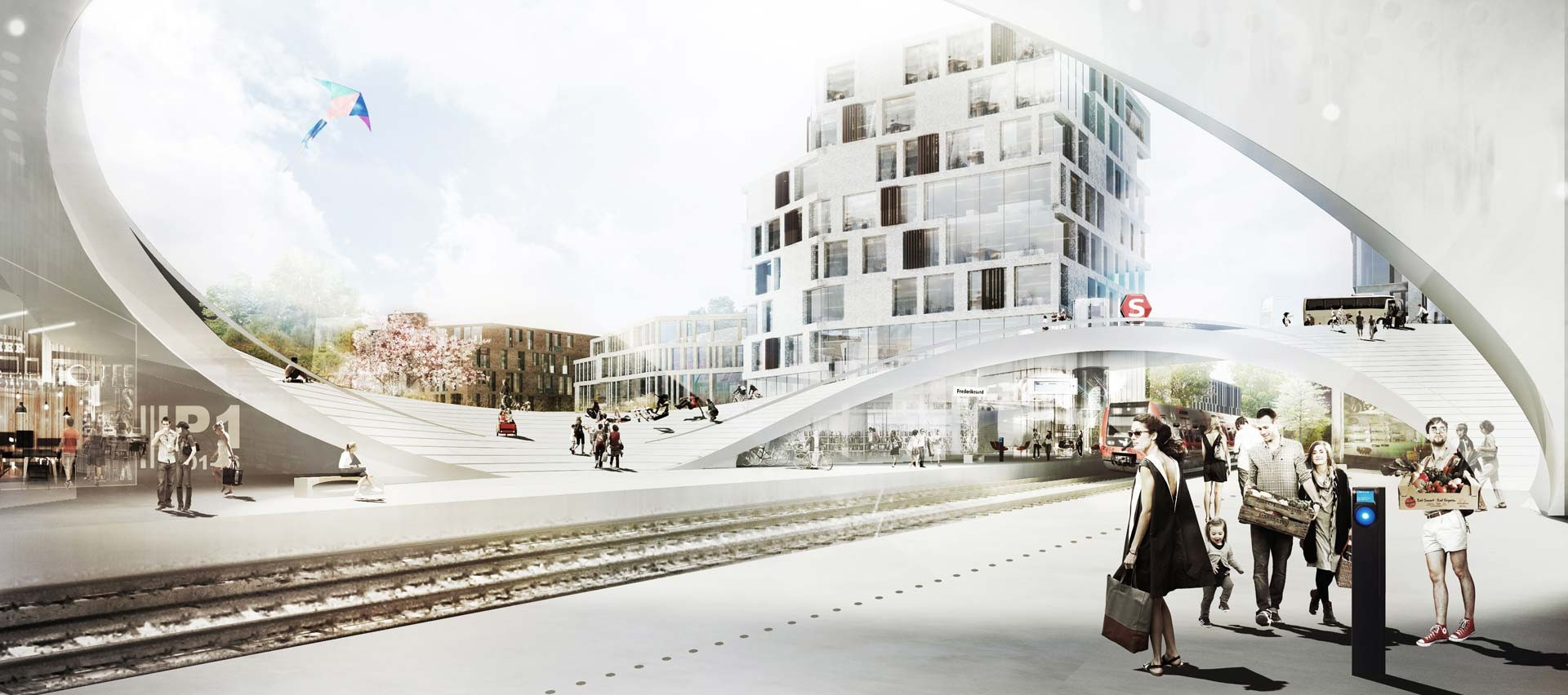 Henning Larsen Wins Competition for Future Vinge Train Station in Denmark, © Henning Larsen Architects