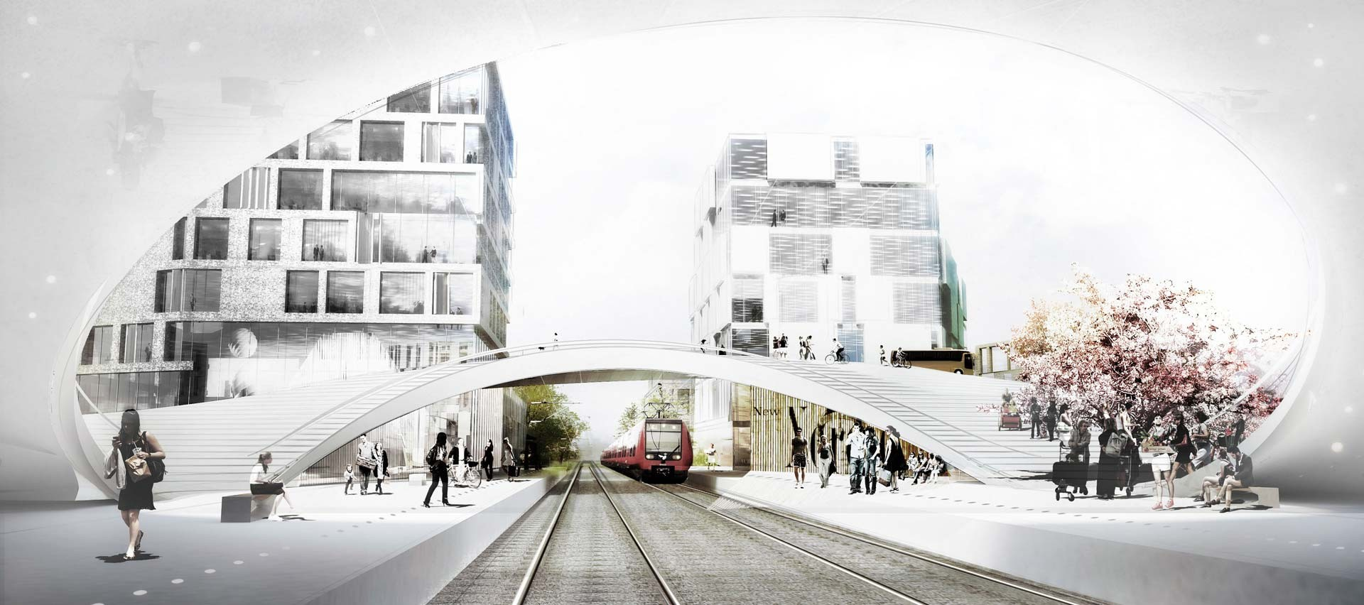 gallery of henning larsen wins competition for future vinge train