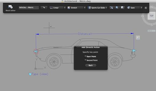 """""""Bloques dinámicos"""" en acción. Imágen cortesía de Autodesk"""