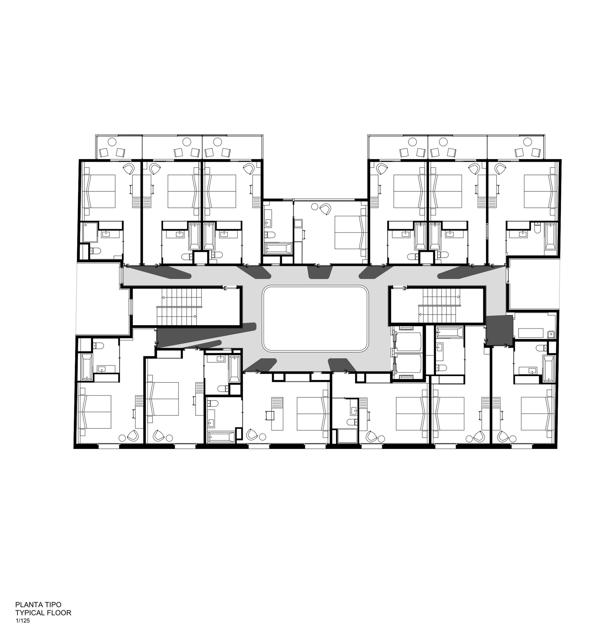 architecture floor plans gallery of hotel vincci gala barcelona tbi architecture 10172
