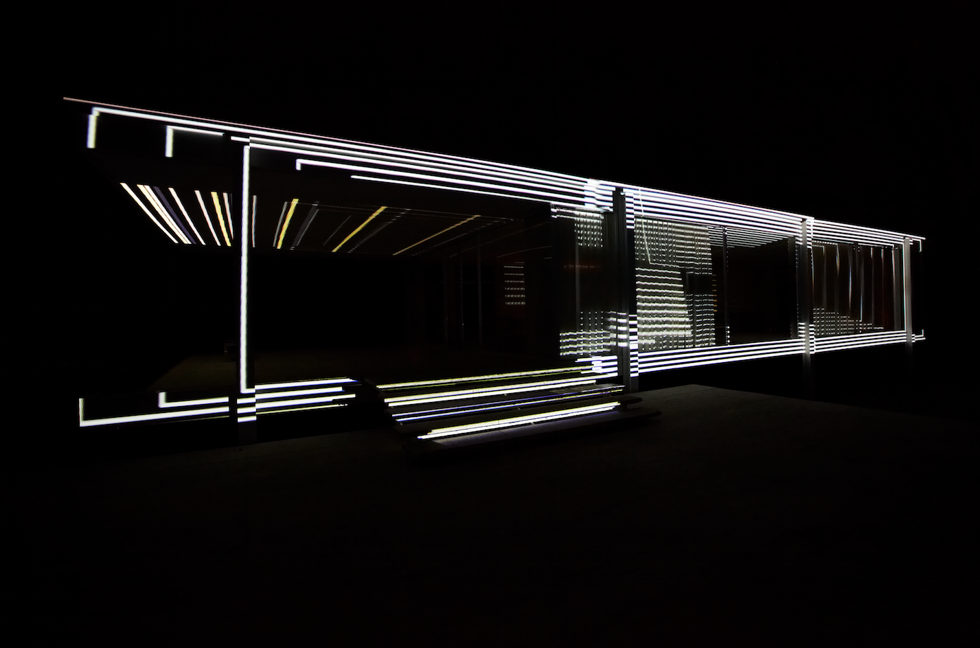 Luftwerk to Illuminate Mies' Farnsworth House this Weekend, © Kate Joyce, Courtesy of Luftwerk