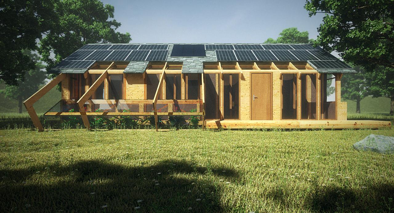 Construye solar casa made prototipo de vivienda for Tirol en techos de casas