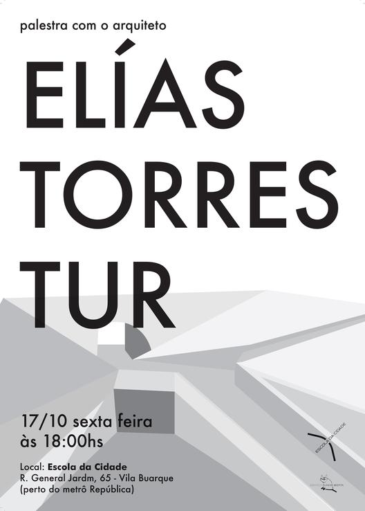 Escola da Cidade promove palestra com o arquiteto Elías Torres Tur