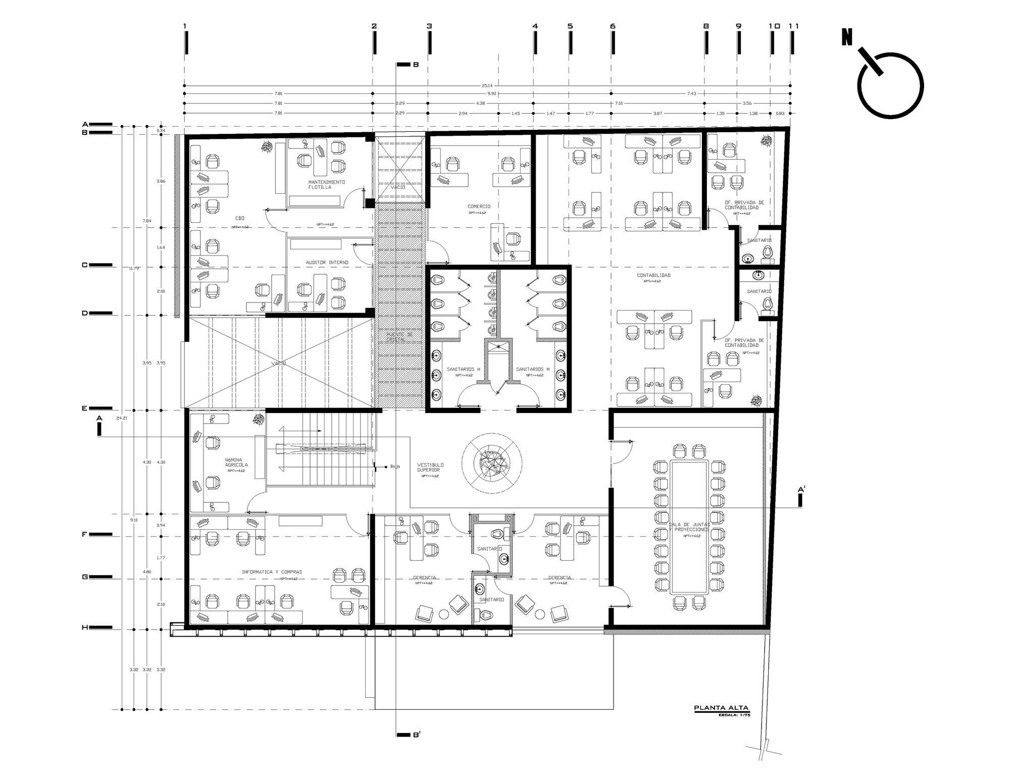 Galer a de corporativo sun belle berries alfa studio for Plantas de oficinas arquitectura