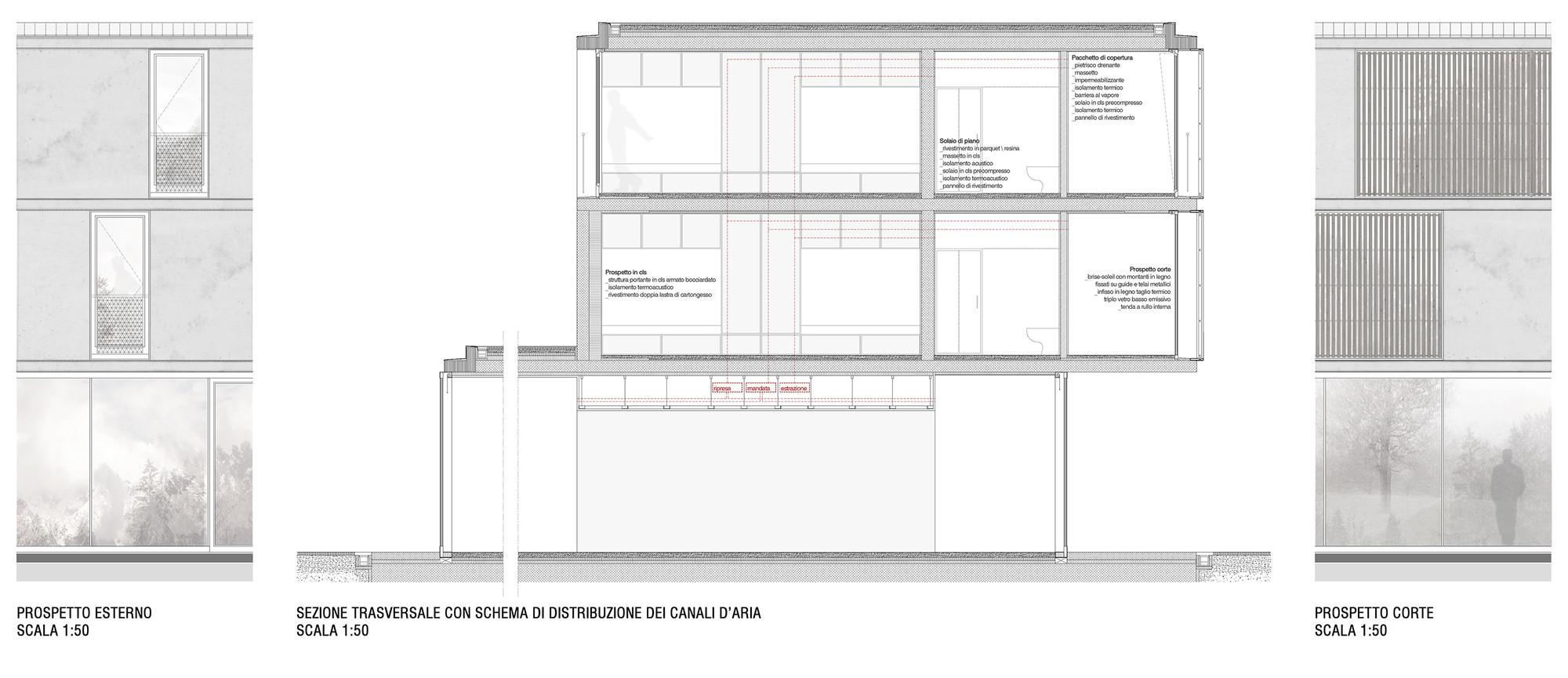 Taglio Solaio Per Scala gallery of am3's prize-winning boarding school to open onto