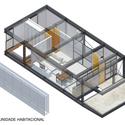 Isométrica da unidade habitacional. Image Cortesia de Equipe vencedora