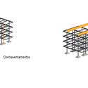 Montagem da estrutura. Image Cortesia de Equipe vencedora