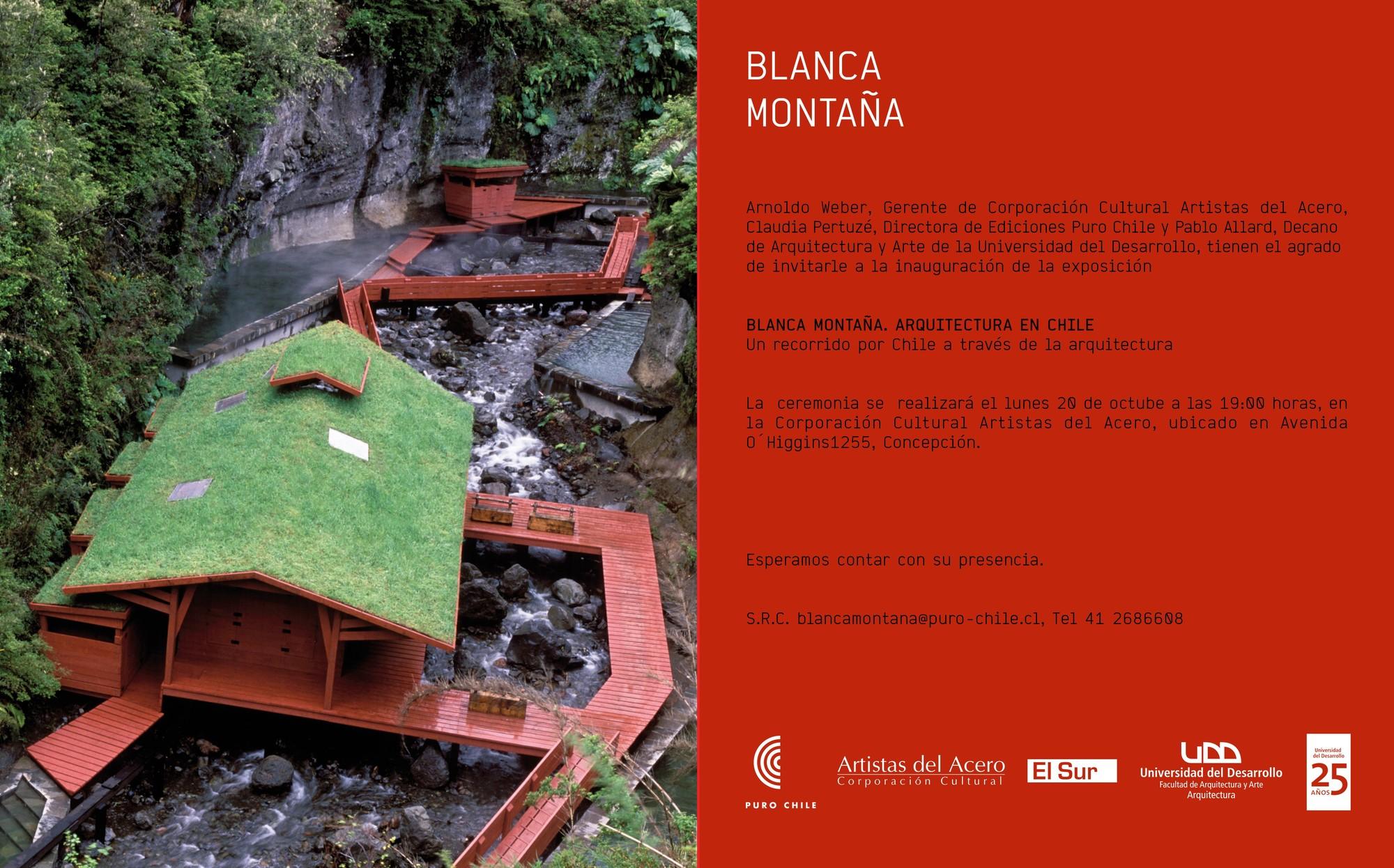 """Exposición """"Blanca Montaña. Arquitectura en Chile"""" / Concepción"""